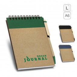 Caderno capa dura wire-o personalizado A6 Ringord 93427