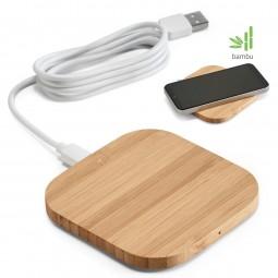 Carregador personalizado Wireless bambu Power