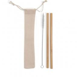 Kit Canudos de Bambu BG071