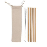 Kit Canudos de Bambu BG072